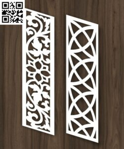 Stair partition E0013048 file cdr and dxf free vector download for laser cut cnc