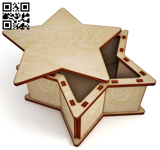 Star box E0013067 file cdr and dxf free vector download for laser cut