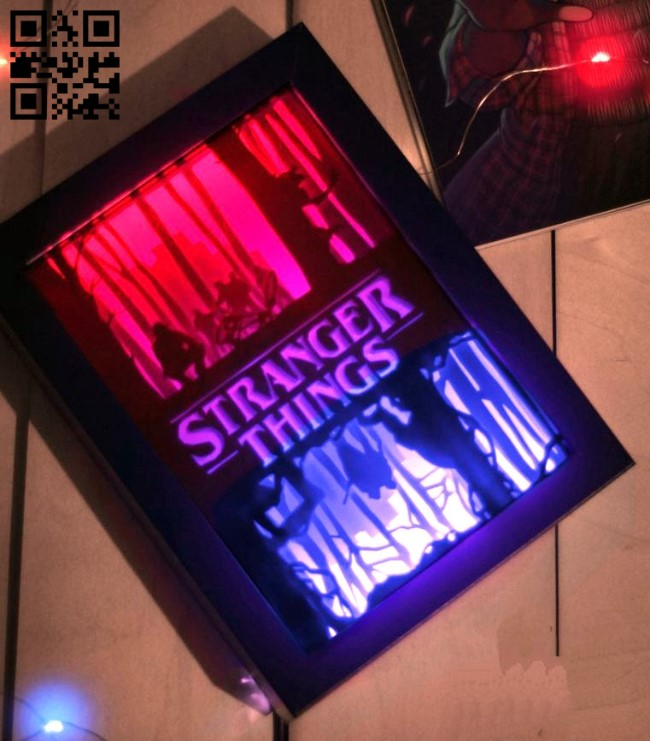 Stranger things light box E0013186 file cdr and dxf free vector download for laser cut