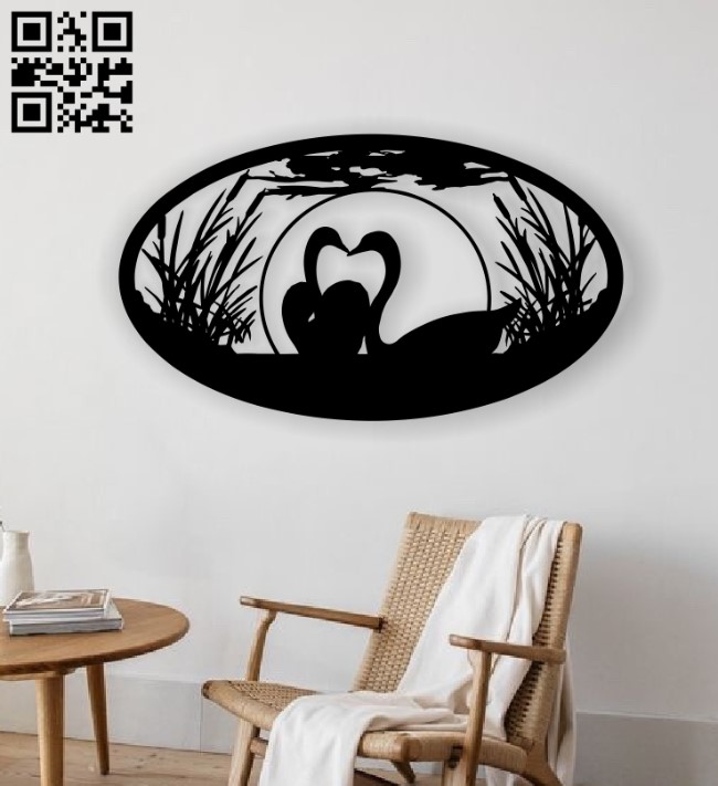Swans E0013061 file cdr and dxf free vector download for laser cut plasma