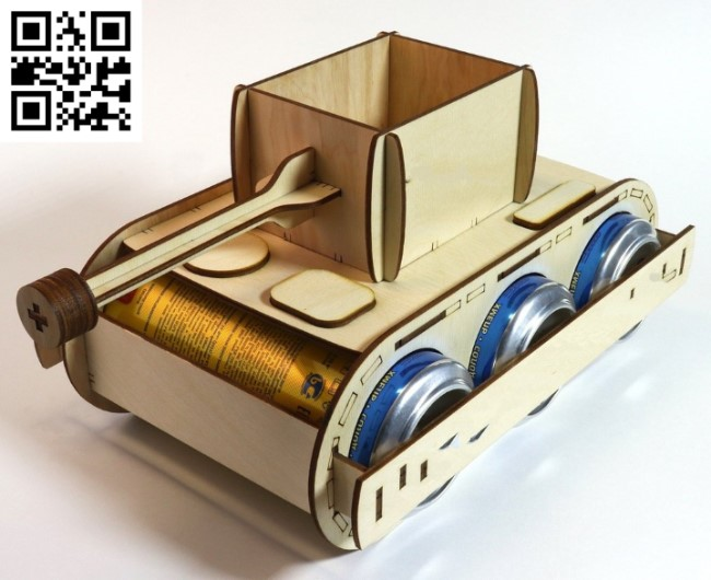 Tank beer holder E0013103 file cdr and dxf free vector download for laser cut
