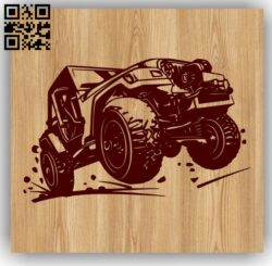 Terrain vehicle E0013154 file cdr and dxf free vector download for laser engraving machines