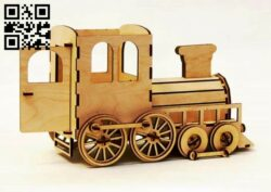 Train E0013004 file cdr and dxf free vector download for laser cut