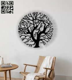 Tree wall decor E0013088 file cdr and dxf free vector download for laser cut plasma