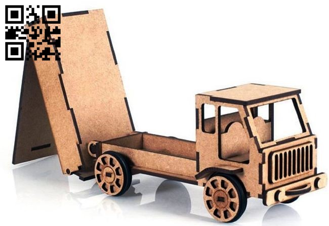 Truck E0013138 file cdr and dxf free vector download for laser cut