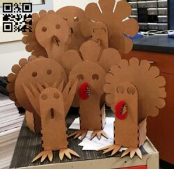 Turkey Box E0012987 file cdr and dxf free vector download for laser cut