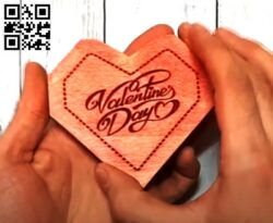 Valentine box E0013119 file cdr and dxf free vector download for laser cut