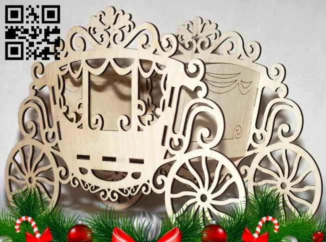 Wagon E0012998 file cdr and dxf free vector download for laser cut