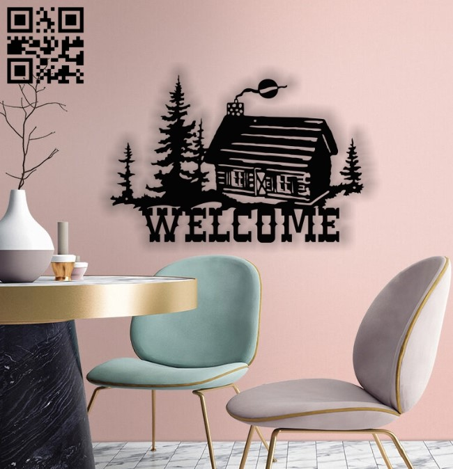 Welcome E0012994 file cdr and dxf free vector download for laser cut plasma