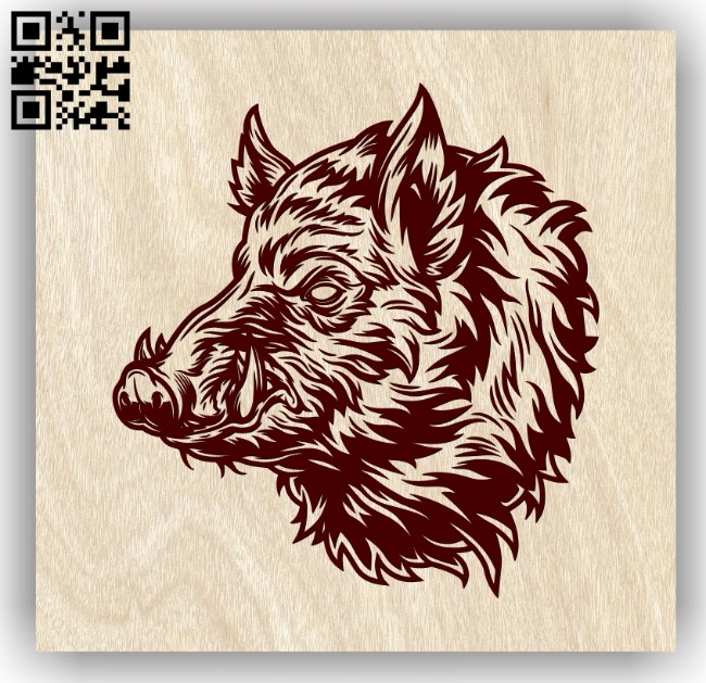 Wild boar E0013187 file cdr and dxf free vector download for laser engraving machines