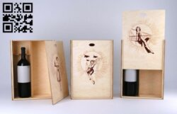Wine box E0013052 file cdr and dxf free vector download for laser cut