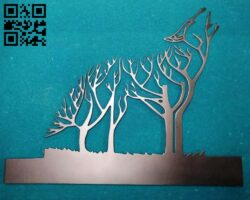 Wolf tree E0013132 file cdr and dxf free vector download for cnc cut plasma