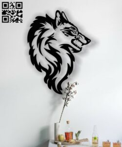 Wolf wall art E0013129 file cdr and dxf free vector download for cnc cut plasma