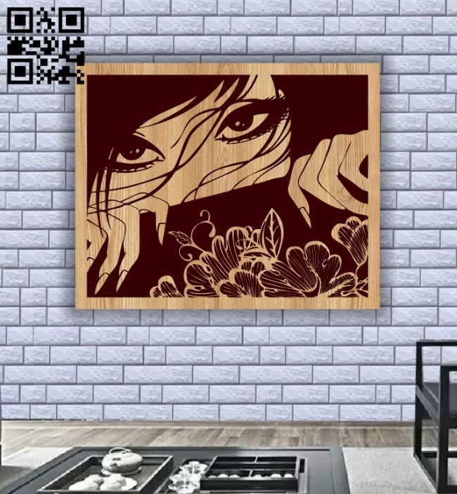 Woman covering her face E0013158 file cdr and dxf free vector download for laser engraving machines