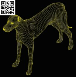 3D illusion led lamp Dog E0013359 file cdr and dxf free vector download for laser engraving machines