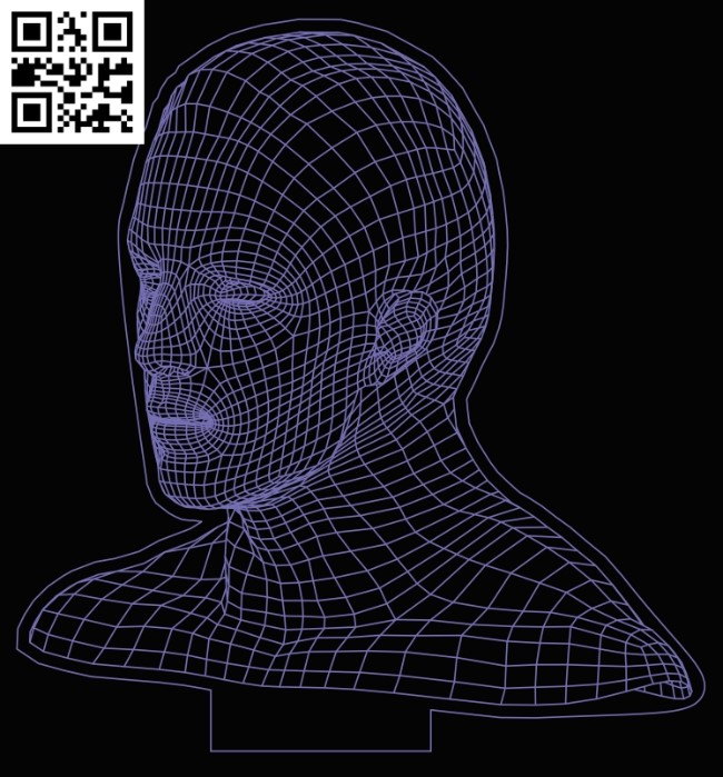 3D illusion led lamp head E0013358 file cdr and dxf free vector download for laser engraving machines