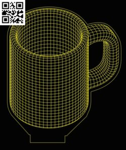 3D illusion led lamp mug E0013356 file cdr and dxf free vector download for laser engraving machines