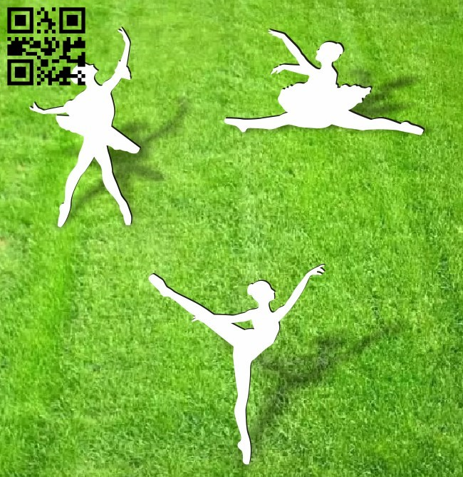 Ballerina dancer E001365 file cdr and dxf free vector download for laser cut plasma