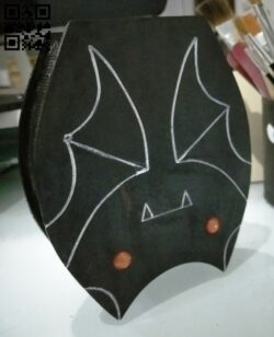 Bat box E0013399 file cdr and dxf free vector download for laser cut