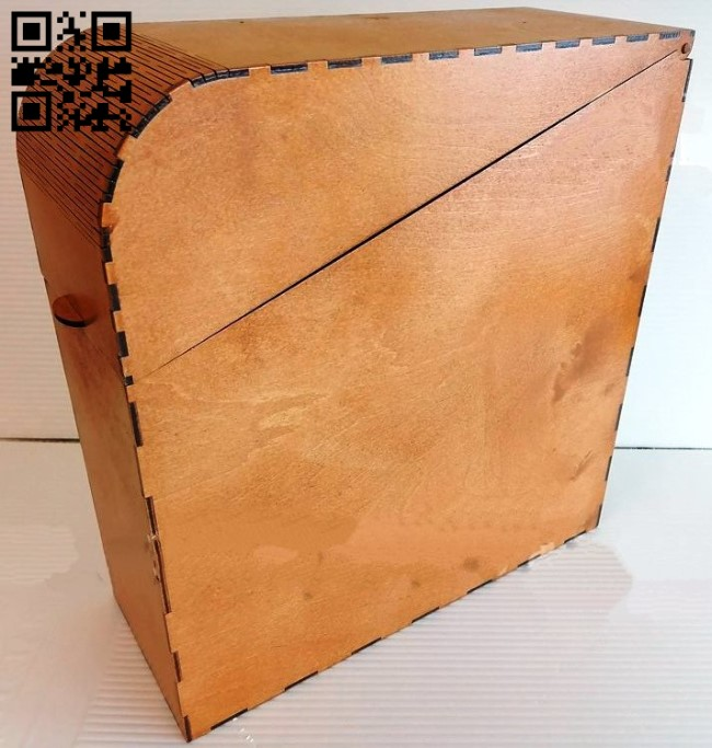 Box with lid E0013464 file cdr and dxf free vector download for laser cut