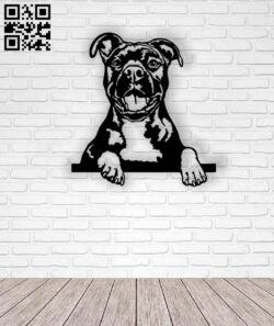 Bull dog E0013215 file cdr and dxf free vector download for laser cut plasma