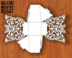 Butterfly box E0013477 file cdr and dxf free vector download for laser cut