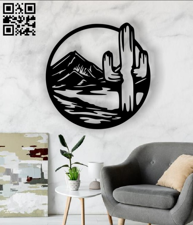 Cactus E0013218 file cdr and dxf free vector download for laser cut plasma