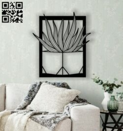 Cactus wall decor E0013393 file cdr and dxf free vector download for laser cut plasma