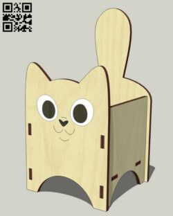 Cat box E0013289 file cdr and dxf free vector download for laser cut