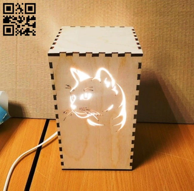 Cat lamp E0013481 file cdr and dxf free vector download for laser cut