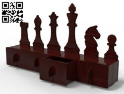 Chess organizer E0013246 file cdr and dxf free vector download for laser