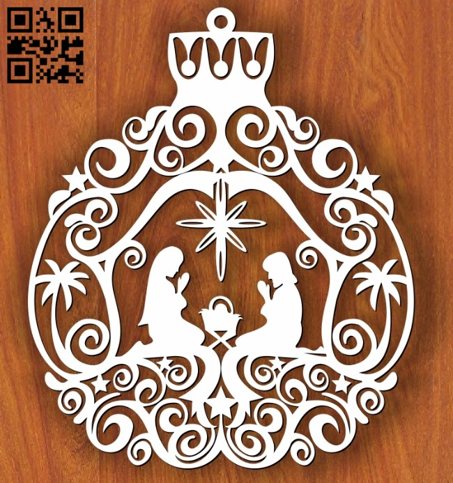Christmas nativity E0013467 file cdr and dxf free vector download for laser cut
