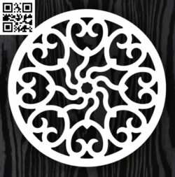 Circle ornament E0013309 file cdr and dxf free vector download for laser cut