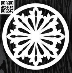 Circle ornament E0013310 file cdr and dxf free vector download for laser cut