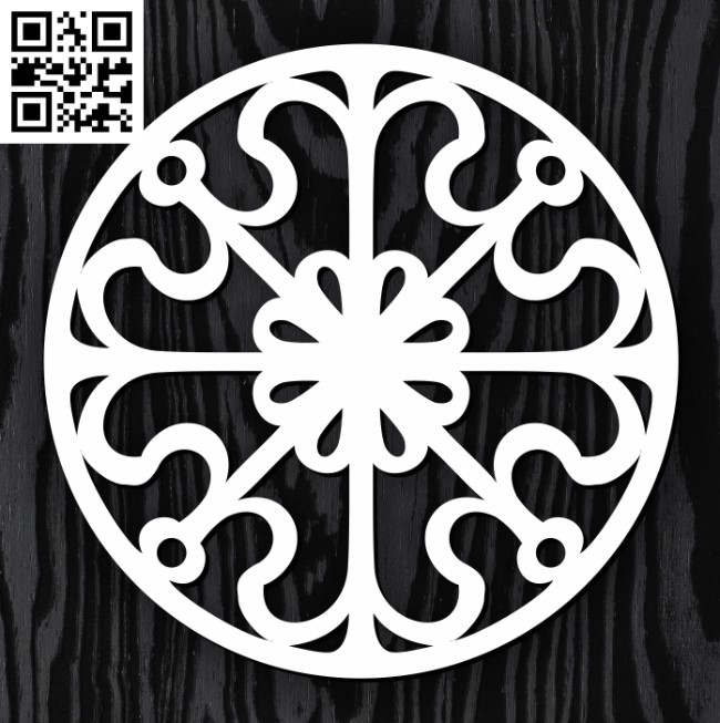 Circle ornament E0013311 file cdr and dxf free vector download for laser cut