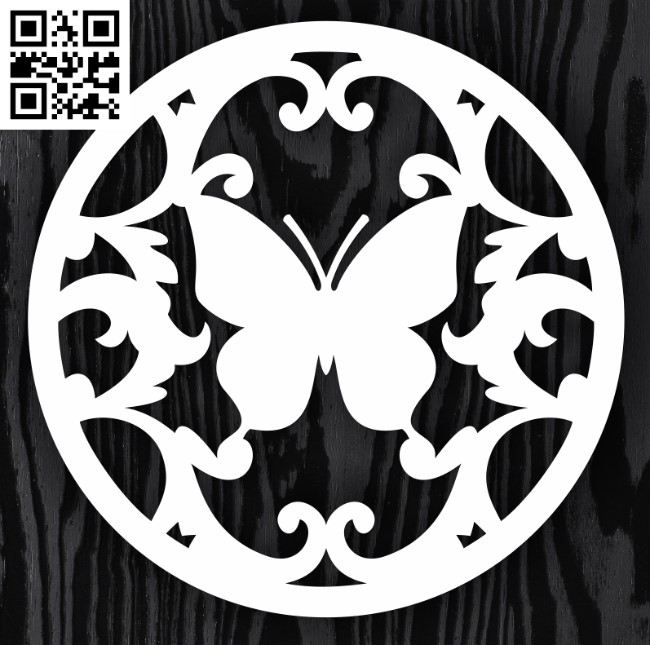 Circle ornament E0013312 file cdr and dxf free vector download for laser cut