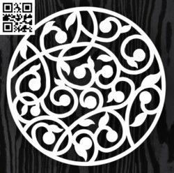 Circle ornament E0013313 file cdr and dxf free vector download for laser cut