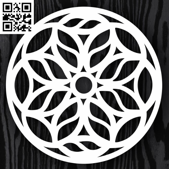Circle ornament E0013314 file cdr and dxf free vector download for laser cut