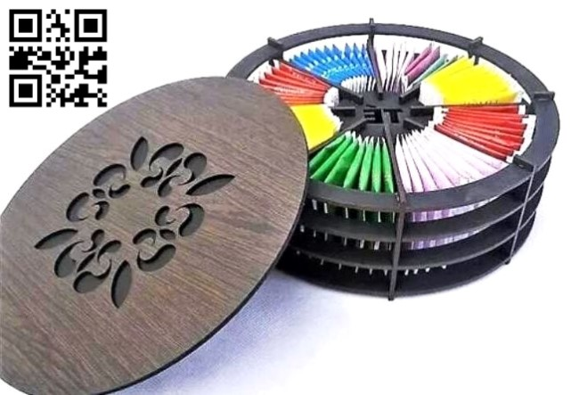 Circular tea box E0013468 file cdr and dxf free vector download for laser cut