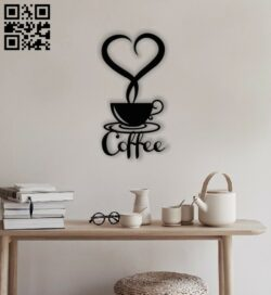 Coffee wall decor E0013329 file cdr and dxf free vector download for laser cut plasma