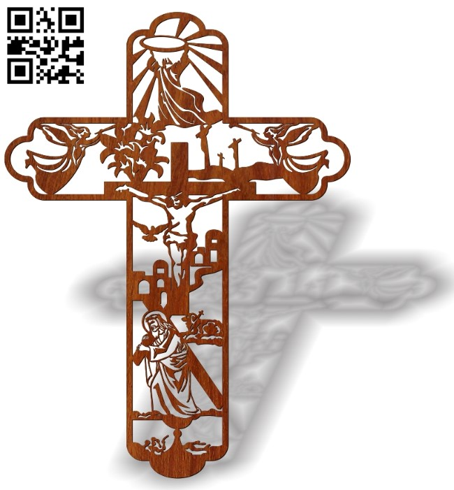 Cross with Calvary E0013454 file cdr and dxf free vector download for laser cut plasma