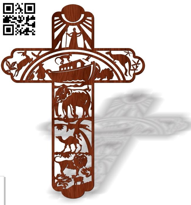 Cross with global flood E0013452 file cdr and dxf free vector download for laser cut plasma