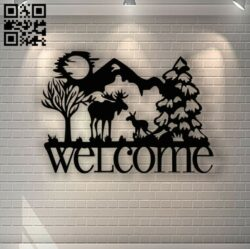 Deers E0013383 file cdr and dxf free vector download for laser cut plasma
