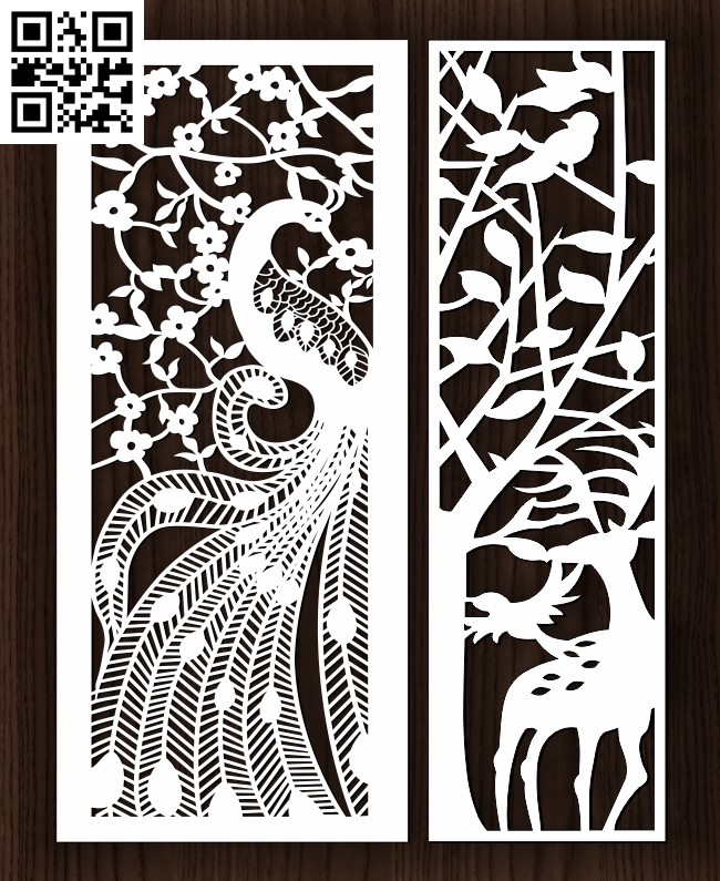 Design pattern screen panel E0013220 file cdr and dxf free vector download for laser cut cnc