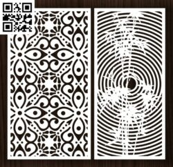 Design pattern screen panel E0013307 file cdr and dxf free vector download for laser cut cnc