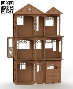 Doll house E0013376 file cdr and dxf free vector download for laser cut