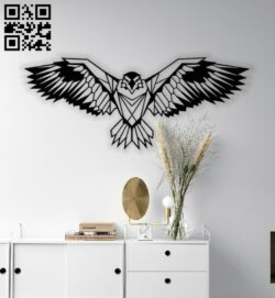 Eagle open wings E0013483 file cdr and dxf free vector download for laser cut