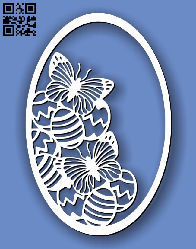 Easter egg E0013407 file cdr and dxf free vector download for laser cut plasma