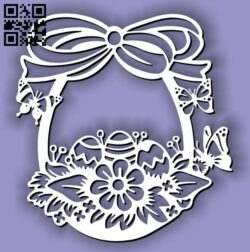 Easter egg basket E0013406 file cdr and dxf free vector download for laser cut plasma