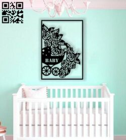 Flower baby carriage E0013446 file cdr and dxf free vector download for laser cut plasma